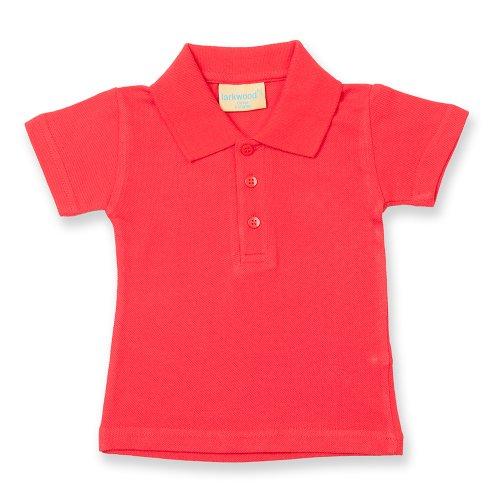Larkwood Kleinkinder Polo Shirt Rot