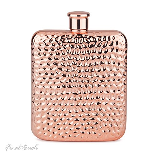 Final Touch Copper Plated Luxe Flask 4 Oz Dosen