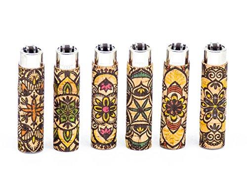 Clipper Cork Cover Mandala 1 Stück Feuerzeug verschiedene Motive