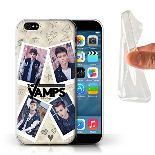 Officiel The Vamps Coque / Etui Gel TPU pour Apple iPhone 6 / Pack 5Pcs Design / The Vamps Livre Doodle Collection Portefeuille