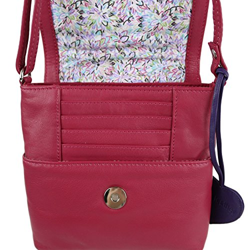 Mala In Pelle, Tracolla Da Donna Multicolore Rosa S Rosa