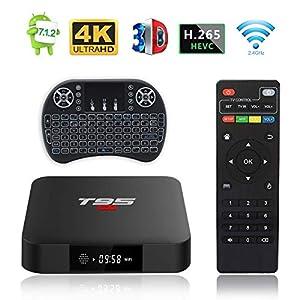 smarttv: Android TV Box, T95 S1 TV Box 2GB RAM/16GB ROM Android 7.1 Amlogic S905W Quad Co...