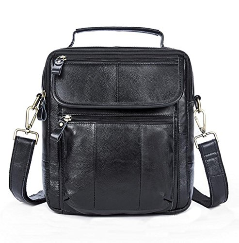 Qualité Vintage Business Casual Satchel Sac à Bandoulière Pour Les Hommes Inclined Multicolor,Black-M