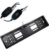 Buyee Nummernschild+Funk Auto Rückfahrkamera 170° IR Nachtsicht+Wireless Transmitter