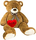 Brubaker Riesiger XXL Teddybär 150 cm groß Braun Mum' Plüschherz