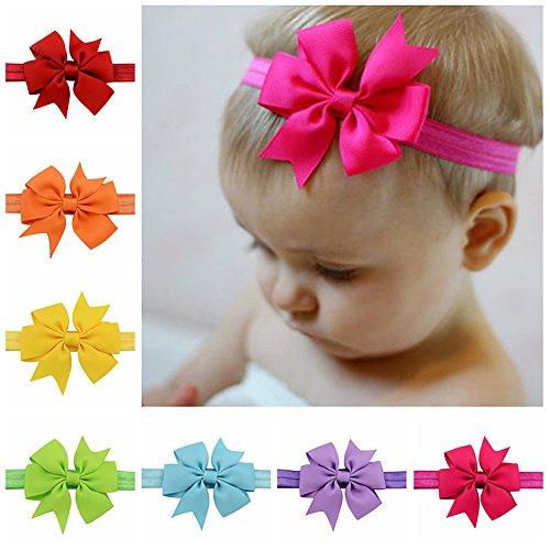 Tiaobug 20 pcs Süßes Baby Mädchen Haarbänder Kopfschmuck Kinder Haarschmuck Stirnband Fotoshooting