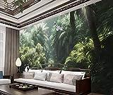 BHXINGMU Kundenspezifische Fototapete Tropischer Regenwald Und Rot-Gekrönter Kran Wohnzimmer Fernsehhintergrundwand Großer Hauptdekor 150Cm(H)×200Cm(W)