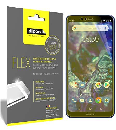 dipos I 3X Schutzfolie 100% passend für Nokia 5.1 Plus Folie (Vollständige Bildschirmabdeckung) Bildschirmschutzfolie