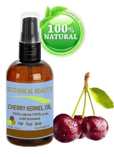 Huile de noyau de Cerise 100% pure / 100% naturel, pour le visage, les cheveux et le corps - 60 ml. \\