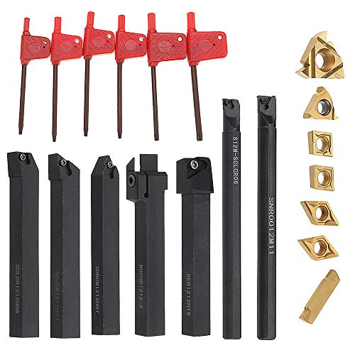 Set Di Supporto Per Utensili Di Tornitura Barra per Tornio Da 7mm 12mm Con Inserti In Carburo