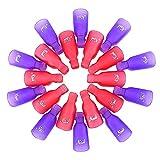 eBoot Nagel Clips, kunststoff nagel kunst, Acrylnagel Kunst tränken Clip Cap UV Gel Polish Remover Wrap Werkzeug Off, 20 Stück