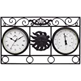 Greenhurst 4391 Wall Frame Sun Clock with Thermometer