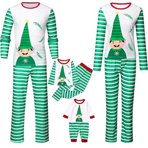 OHQ Weihnachten Pyjama Schlafanzüge Nachtwäsche Familie Outfit Weihnachts Kostüm Erwachsene Pyjama Set Overall für Kinder, Jungen, Mädchen, Herren,Damen Sleepwear Zweiteiliger Hausanzug (Kostüm Jemals Für Kinder)