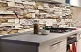 DIMEX LINE Sticker crédence - Cuisine Mur DE Pierre 180 x 60 cm | Crédences adhésives