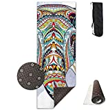 Bag shrot Yoga Mat Non Slip Squid On The Rocket 24 X 71 Inches Premium Fitness Exercise Pilates Carrying Strap