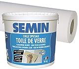 Semin A00451, Colle pour Toiles de Verre et Revêtements Muraux Légers en Pâte, Seau 5 kg et A01266 Sem Toile Eco T...