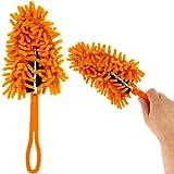 -Brosse chenille, Mikrofaser, faltbar, staubdicht, Orange