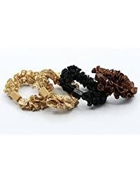 Lace-A : Floral Lace Hair Scrunchy Hair Ties Hair Bands,Hanmei (Lace-A)