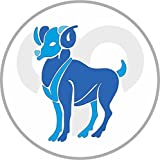 Etaia 8 cm - rund geschnitten - Autoaufkleber Widder Sticker Aufkleber fürs Auto Motorrad Decal Sternzeichen Horoskop Sternkreiszeichen
