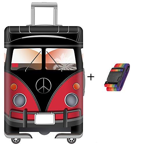 7-Mi Housse de valise,Spandex élastique Protection De Valise Housse Bagage Protecteur Couverture - Sangle de Bagage pour -25-28 Inch XL
