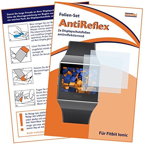 mumbi Schutzfolie kompatibel mit Fitbit Ionic Folie matt, Bildschirmschutzfolie (2x)