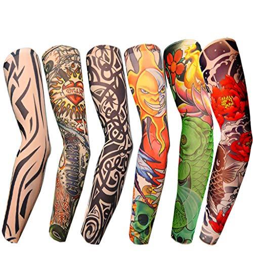 MA87 Tattoo Ärmel Body ArtSunscreen Temporäre Armstrümpfe Slip Zubehör 6PCS