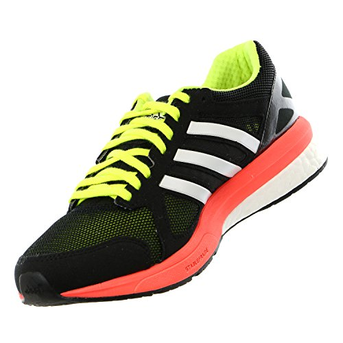 Adidas Hommes Adizero Tempo Boost 7 Running Shoe Sneaker, Minuit Gris / Rouge solaire / Ochre brut, Navy/Red