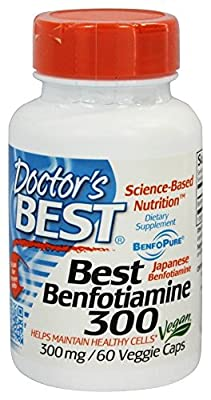 Doctor's Best Benfotiamine 300mg, 60 Vegetarian Capsules by Doctor's Best