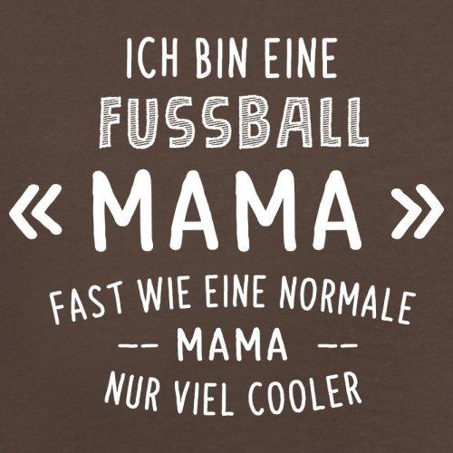 Ich bin eine Fussball Mama - Herren T-Shirt - 13 Farben Schokobraun