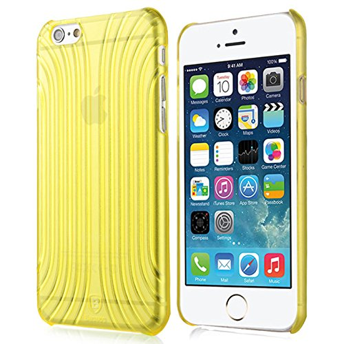 Baseus Premium Transparentes Hard-Shell Case / Ultra-Dünn / Slim / Schutzhülle für Apple iPhone 6 & 6S in Transparent Gelb Premium Hardshell Case