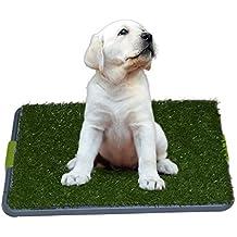 Sonnyridge Facile Dog Potty Training - Made in erba sintetica - 3 strati del sistema - vassoio della vaschetta - Grande per cani Stuck in casa tutto il giorno - uso interno. E 'come una coperta Potty disordine del cane Box Gold Dog