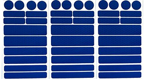 UvV-Reflex Sticker - Reflektoren 42 Stück Light Reflex Reflektor für Buggy, Kinderwagen, Gehstock, Bikes, Helm Test