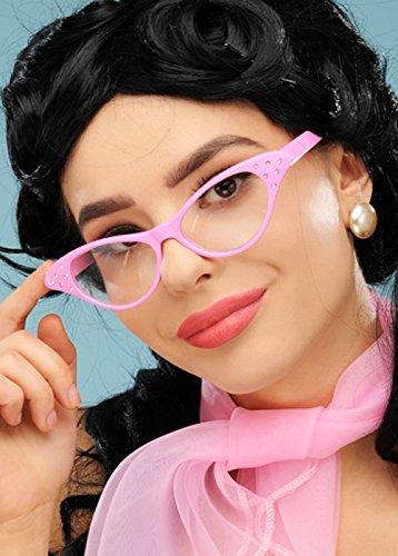 Damen 1950er Jahre Pink Rock n Roll Brille