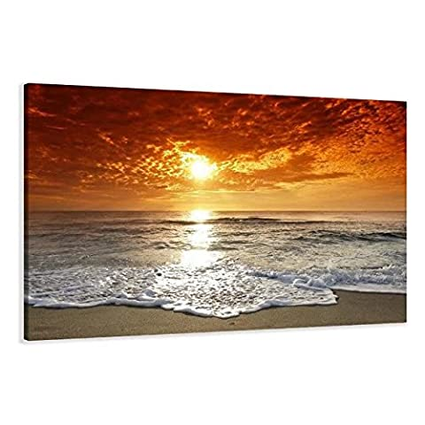 MOXO Orange Sunset prints pictures on canvas framed abstract sea wave ocean seascape and orange Sunshine canvas painting wall Art wall decor