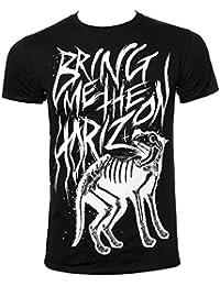 Official Unisex T Shirt BRING ME THE HORIZON Black Wolf Bones All Sizes
