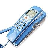 MMM- Wand-Festnetz-Haushalts-Büro-Telefon-Wand-hängendes örtlich festgelegtes Telefon-Hotel-Kreativitäts-kleines verdrahtetes Telefon-Multifunktions-Mini schnurgebundenes Schreibtisch-Telefon ( Farbe : Blau )