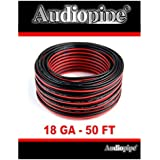 18 Gauge 50 Speaker Wire Copper Clad Red Black Zip Cable 12 Volt Low Voltage