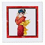 3dRose QS 31480_ 4Anime geisha-quilt Platz, 12von