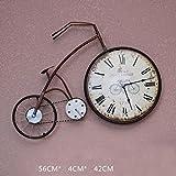 COCO American Style Retro Wohnzimmer Schlafzimmer Kreative Fahrrad Wanduhr Wanddekoration Persönlichkeit Uhren und Uhren an der Wand Dekorationen Wanddekoration HOME