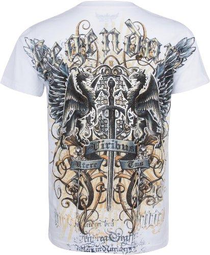 Sakkas Swoderd and Griffin T-Shirt aus Baumwolle für Männer Schwarz Weiß