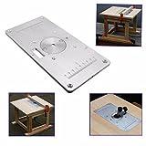 adaalen 235mm x 120mm x 8mm de aluminio mesa de fresadora con plato para insertar para carpintería