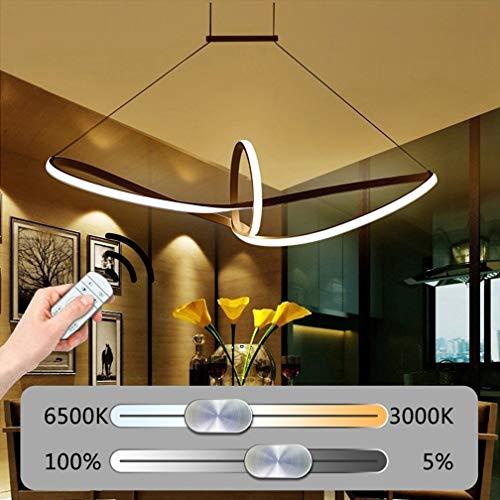LED Pendelleuchte Esstisch Chandelier 32W dimmbar Aluminium Acryl Pendelleuchte Moderne Hängelampe Design Höhenverstellbare Lampe Innenbeleuchtung Wohnzimmer Esszimmer Küche Büro -