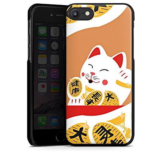 Apple iPhone X Silikon Hülle Case Schutzhülle Japan Katze Cat Hard Case schwarz