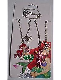 Disney The Little Mermaid Ariel & Sebastian Best Friends BFF Pendant Necklaces