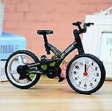 PRIMI Einzigartige Hingucker Exquisite Fahrrad Sporting Wecker, Schwarz