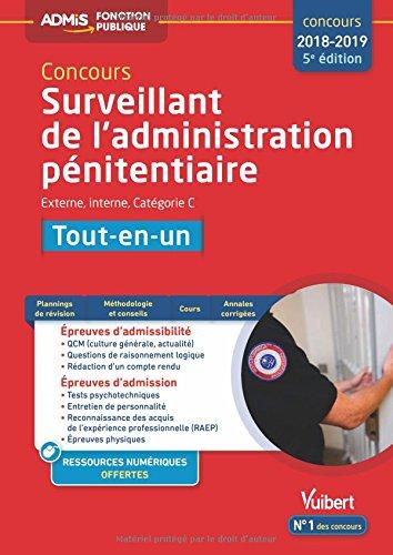 Concours Surveillant de l'administration pnitentiaire - Catgorie C - Tout-en-un - Concours 2018 - 2019