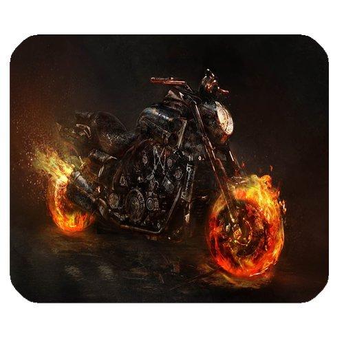 Ghost Rider 2Motorrad Persönlichkeit Designs Gaming Maus Pad, Oberfläche der Polyester verhindern Verformung [natur Gummi, Präzision Stoff] £ ¨ 25x 20,1cm £ ©