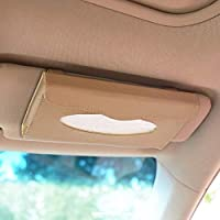 PRIKNIK Cream Car Sun Visor Tissue/Napkin Box Holder Compatible with Hyundai I10 Type 2 (2012-2015)