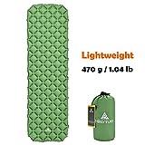 Camping Isomatte Kleines Packmaß von Hikenture® - Ultraleichte Aufblasbare Isomatte - Sleeping Pad für Camping, Reise, Outdoor, Wandern, Strand (Grün) -