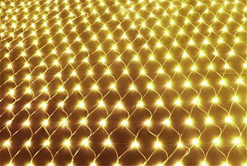 W-ONLY YOU-J Dekoration net Mesh dekorativ Lights 2mx3m 200 LEDs 8 Modi für Outdoor Christmas Tree Wedding Parties Dekoration , Warm White